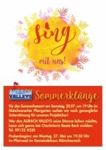 Sommerkonzert am Samstag, 20.07. um 19 Uhr im Münchauracher Pfarrgarten